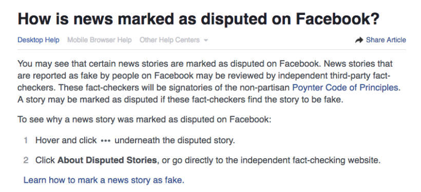 disputed news